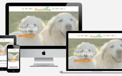 New Website for PurePets – Pet Grooming Products