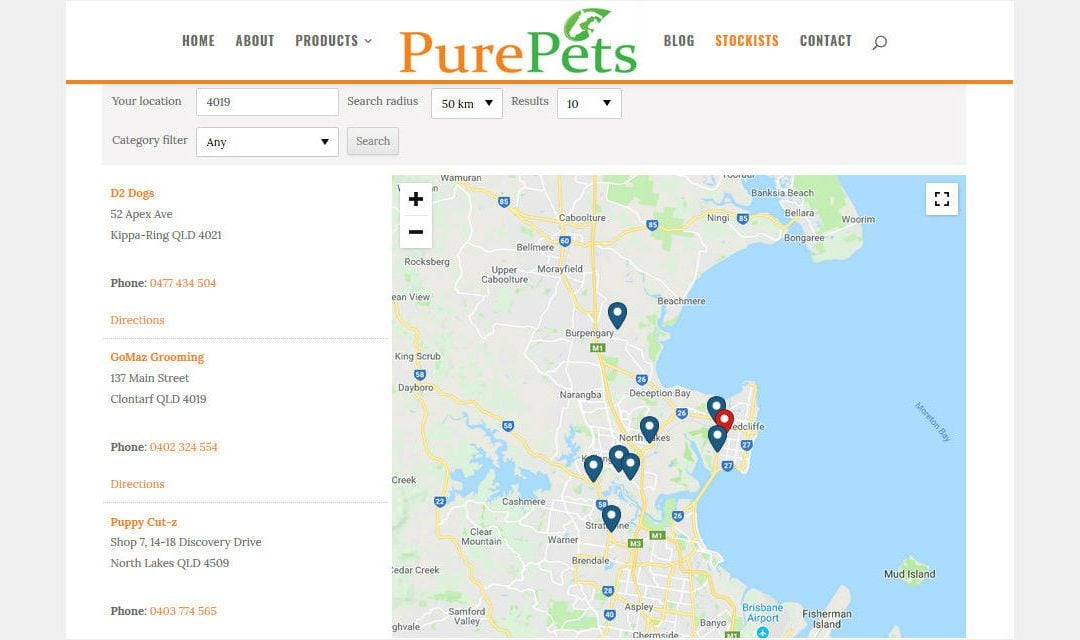 Our PurePets® Stockists around Australia