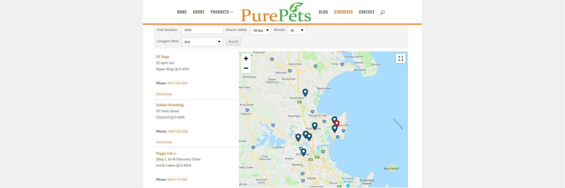 PurePets Store Locator - Australia wide